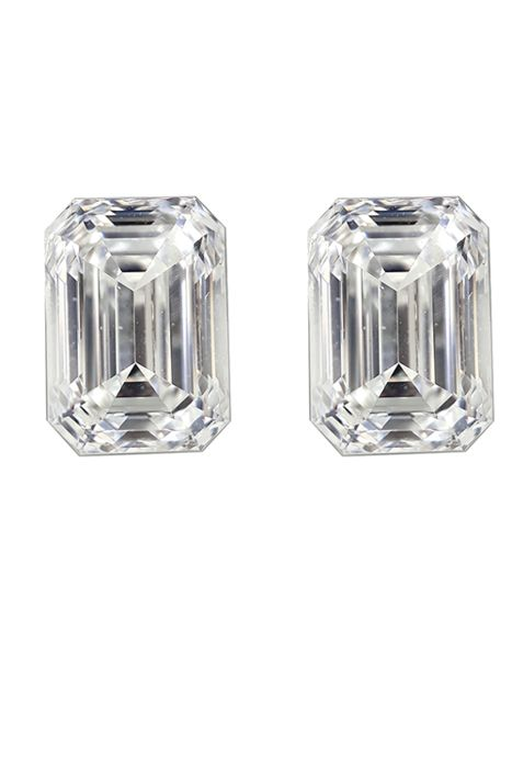 2 pcs Diamond - 2.01 ct - Cushion - F - VS1, VS2