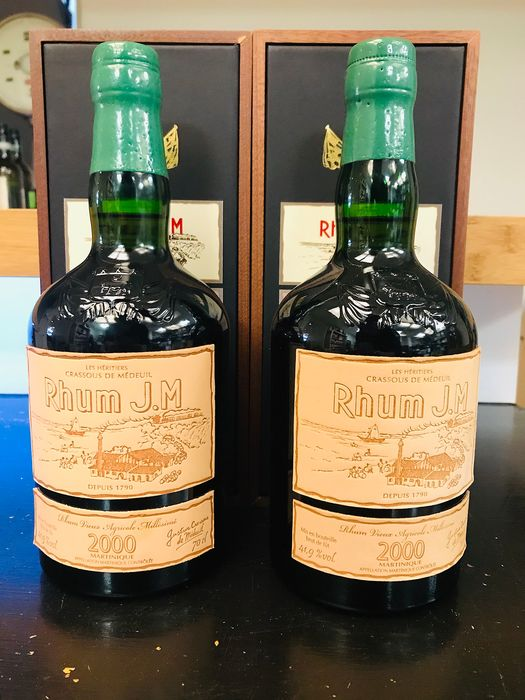 Rhum JM 2000 15 years old -  Millésime 2000 - b. 18/08/2016 - 70cl - 2 bottles
