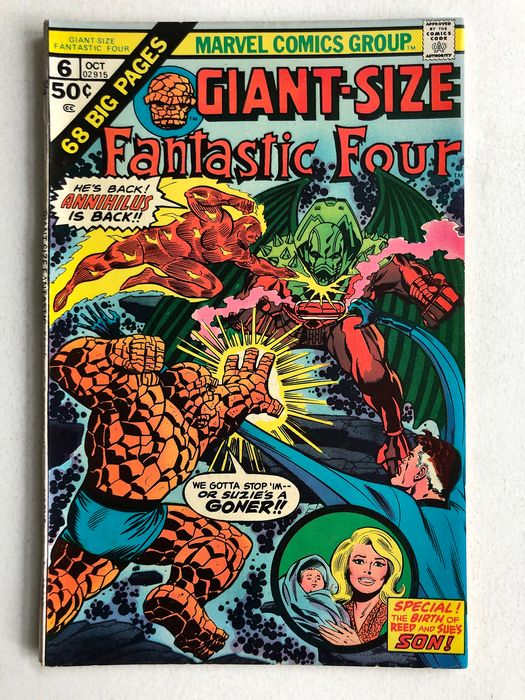 The Fantastic Four Giant Size #6 - Annihilus Appearance - Very High Grade! - Softcover - First edition - (1975)