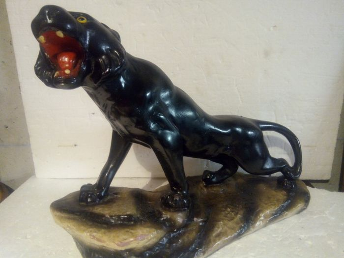 Hand made panther - Plaster