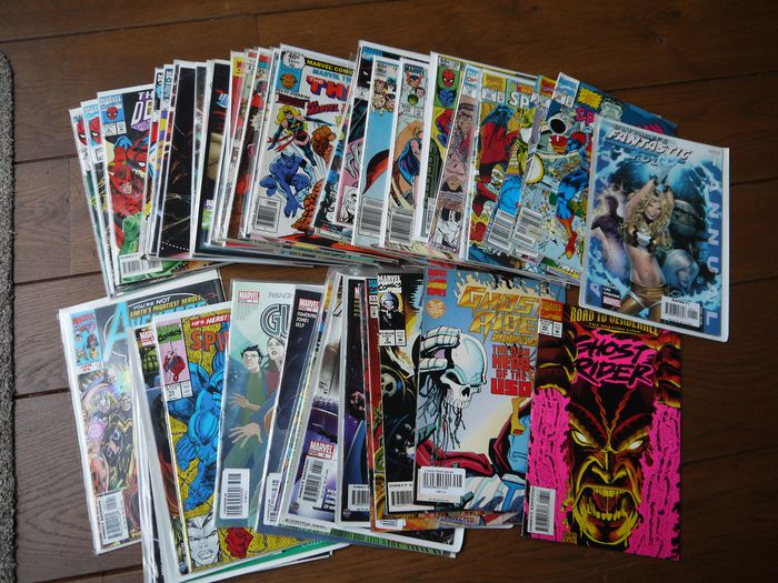Marvel comics - Various Titles - Lot of 52 comics - Softcover - First edition (1991)