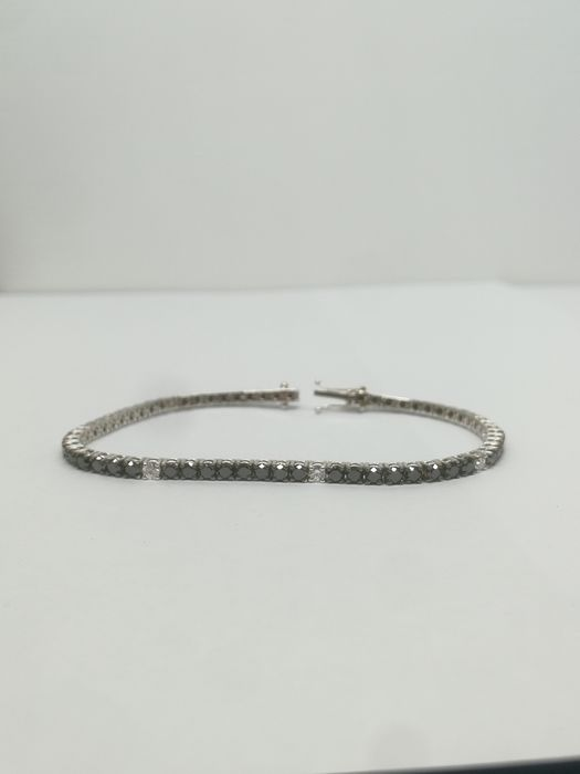 18 kt. White gold - Bracelet - 3.80 ct Diamond