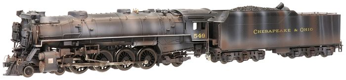 Mehano H0 - T009/22290 - Steam locomotive with tender - Series 549, full sound - Chesapeake & Ohio