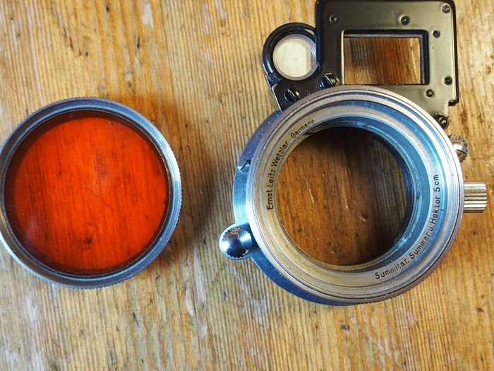 Leica (Leitz) WIDE ANGLE ATTACHMENT SOOKY + LEICA RED FILTRE Oc 39mm