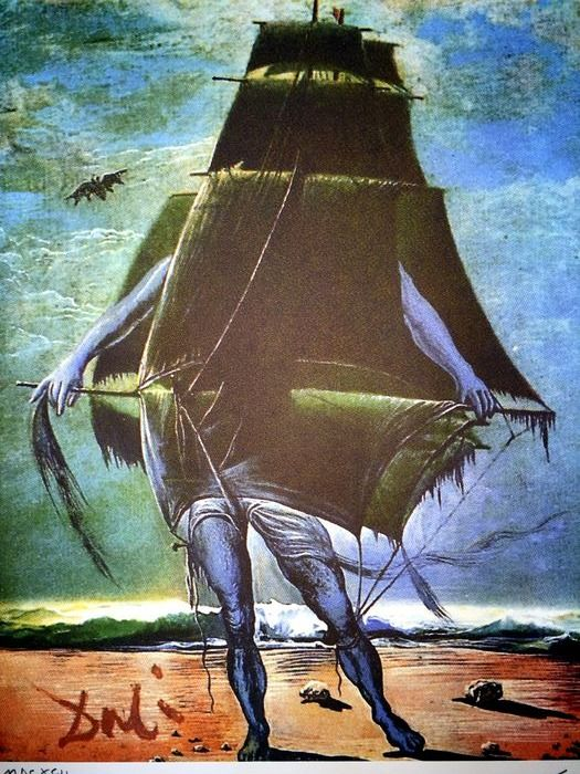 Salvador Dalí (After) - Costume for Tristan Insane The Boat