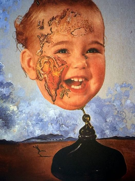Salvador Dalí (After) - Baby Map of the World