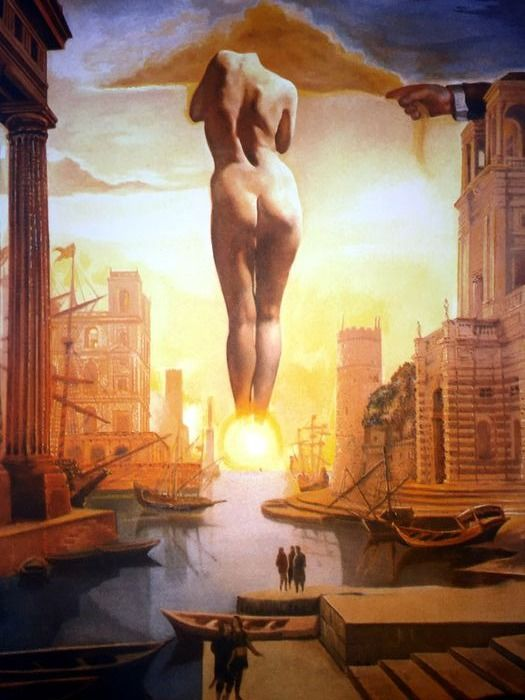 Salvador Dalí (After) - Dali's hand Drawing Back the Golden Fleece in the Form of a Cloud