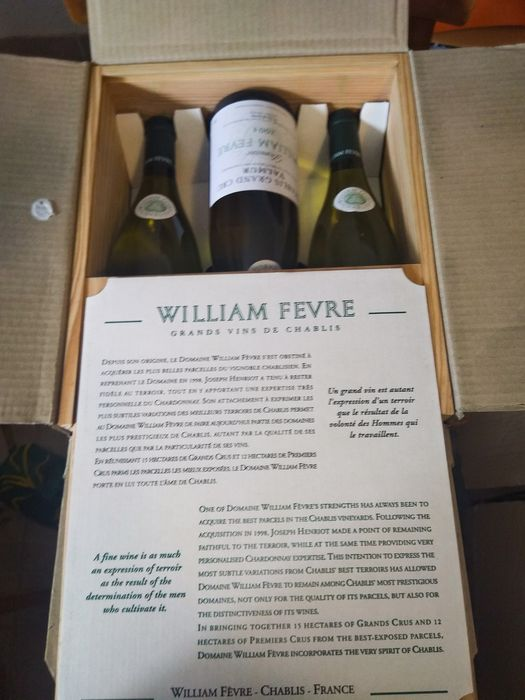 2004 William Fevre Valmur - Chablis Grand Cru - 6 Flessen (0.75 liter)