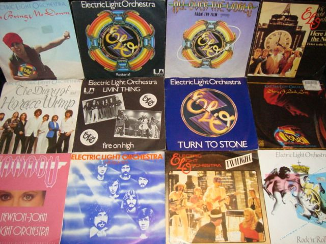 "E.L.O. - Collection of 12 original 7"" singles. Picture Sleeves - Multiple titles - 45 rpm Single - 1976/1983"