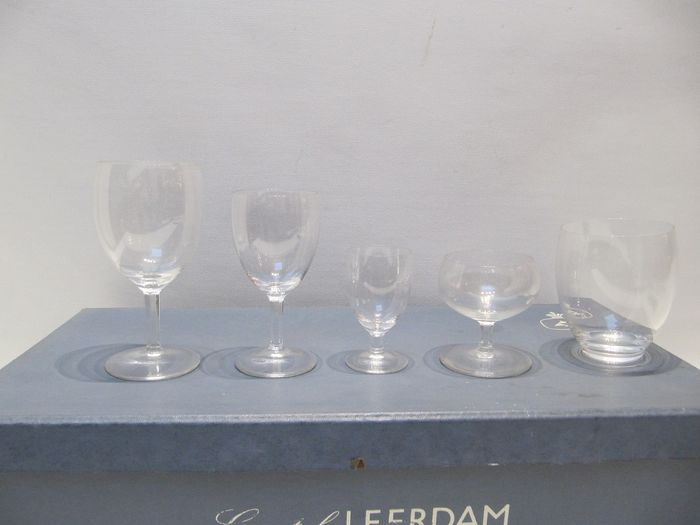 A.D. Copier - Leerdam - Box with set of Guild Glasses (1) - Crystal