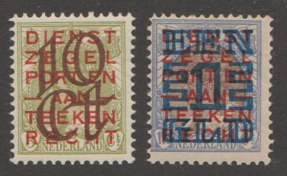 Países Bajos 1923 - Clearance issue - NVPH 132C/133C