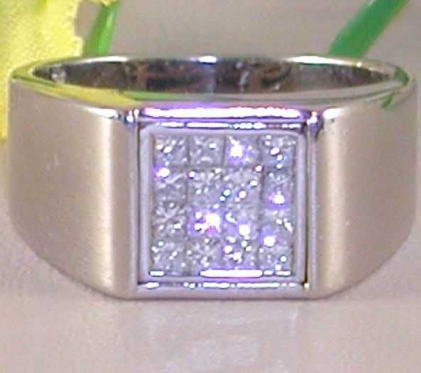 18 kt. White gold - Ring - 0.80 ct Diamond