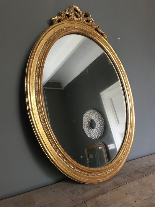 French Renaissance Style Tinted Mirror Glass Wood Catawiki