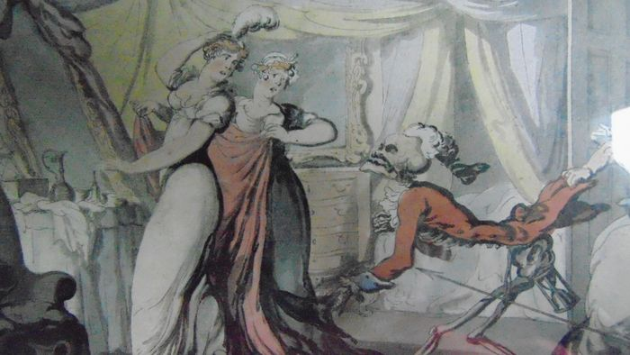 Three prints by Thomas Rowlandson (1756-1827) - Scenes from the English Dance of Death