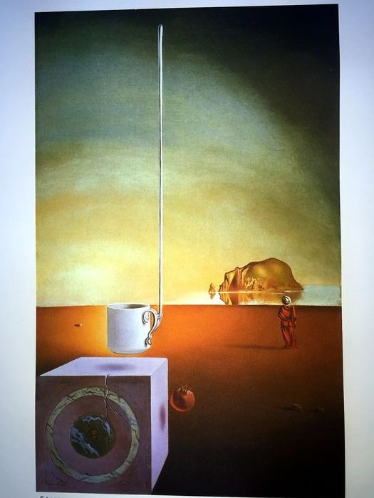 Salvador Dalí (After) - Giant Flying Mocca Cup with an Inexplicable Five-Metre Appendage