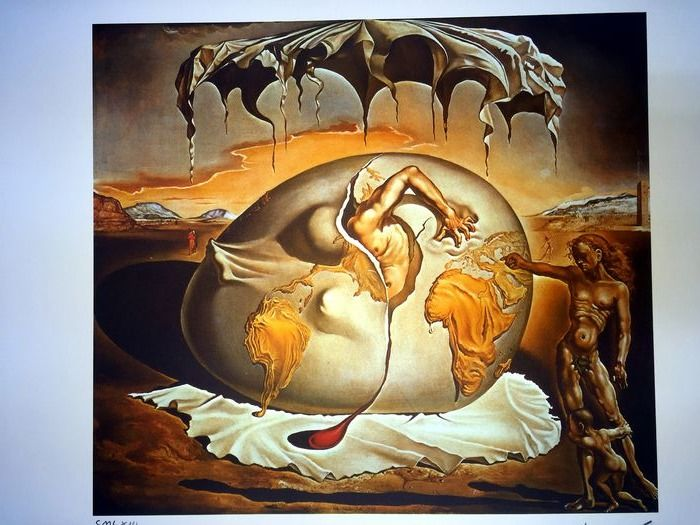 Salvador Dalí (After) - Geopolitical Child Watching the Birth of the New Man