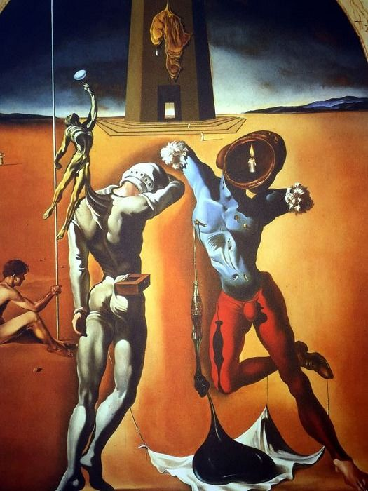 Salvador Dalí (After) - Poetry of America- The Cosmic Athletes