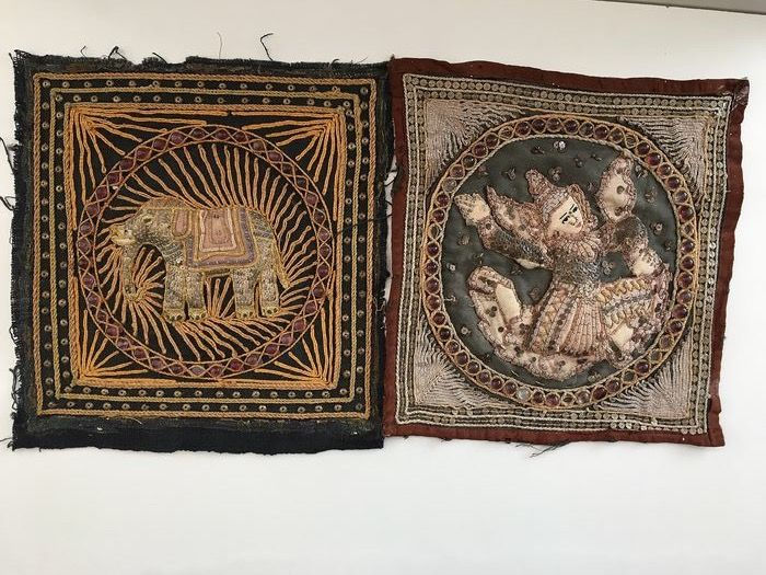 two tapestries - Textile - Burma - Second half 20th century