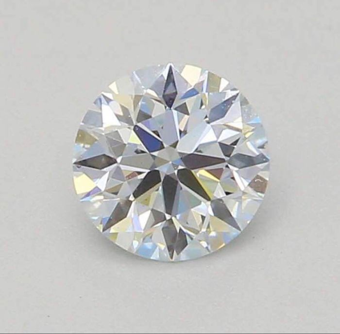 1 pcs Diamant - 0.25 ct - Rond - Faint blue - VS2