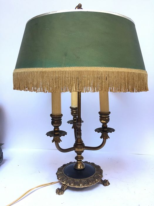 Table lamp, 'Bouillotte' with three lights