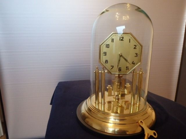 Anniversary clock - K&O  - Brass, Glass - 20th century