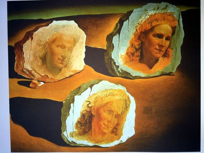 Salvador Dalí (After) - Three Apparition of the Face of Gala