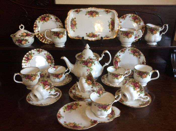 Royal Albert - Old Country Roses theeset & theepot - Porselein