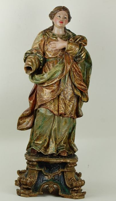 Sculpture - Baroque - Polychromed and gilt wood - Late 17th century