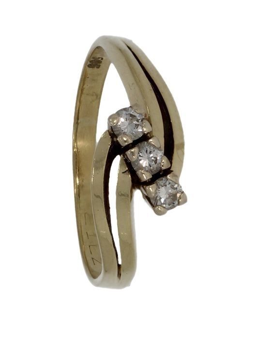 14 kt. Yellow gold - Ring - 0.21 ct Diamond