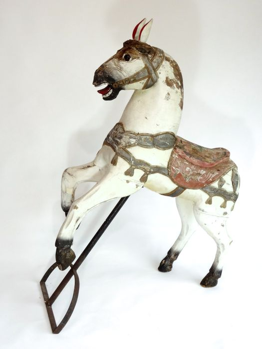 Carousel Horse - Oak - Early 20th century