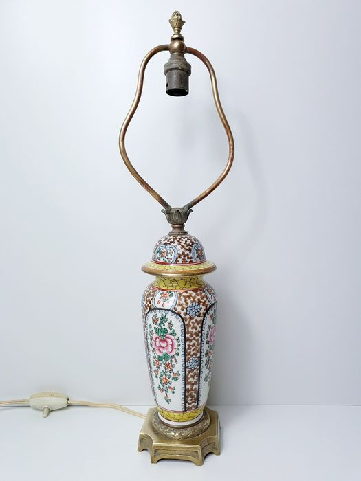 Table lamp - Brass, Porcelain