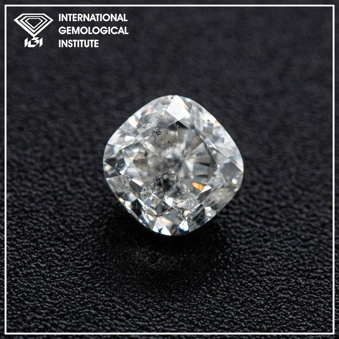 Diamant - 1.01 ct - Coussin - G - I1, IGI Antwerp - No Reserve Price