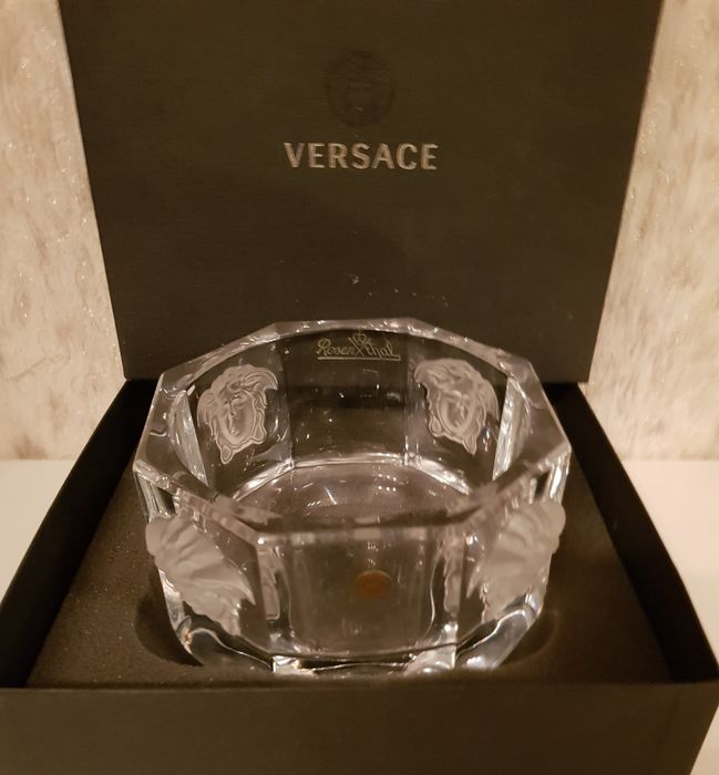 Gianni Versace - Rosenthal - Crystal 'Medusa Lumiere' Bottle Coaster, New in Box - Kristal