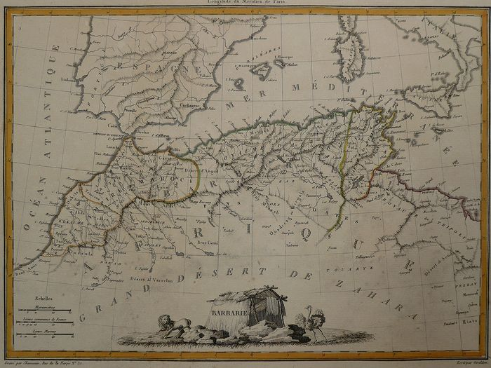 Africa, Northern Africa, Morocco, Lybia; P. Lapie - Barbarie - 1809
