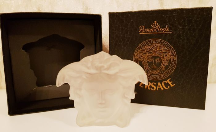 Gianni Versace - Rosenthal - 'Medusa Lumiere' PAPERWEIGHT, New in Box - Crystal