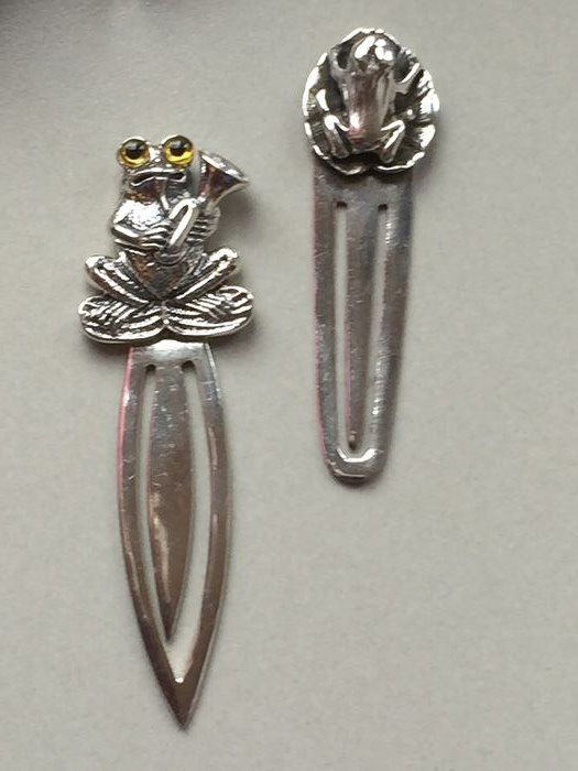 Bookmarks Frogs (2) - Abstract - .925 silver