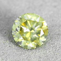 Diamant - 1.03 ct - Brilliant - Natural Fancy Brownish Yellow - I1 - NO RESERVE PRICE - VG/G/VG