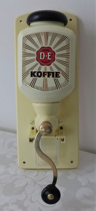 Douwe Egberts - Luxe Wand Coffee Grinder - Pottery - wood - metal - brass - glass