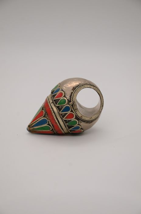 Ring - Mother of the Jewish Bride - .840 silver - Tunisia - 20th century