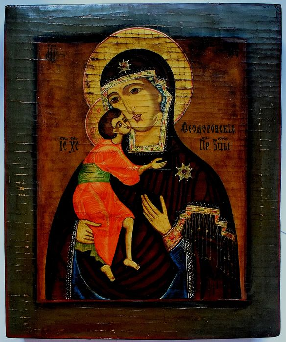 Russian icon. Feodorovskaya Icon of the Mother of God, handpainted - Icon - tempera, wood