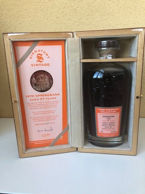Springbank 1970 37 years old - Signatory Vintage - b. 2007 - 70 cl