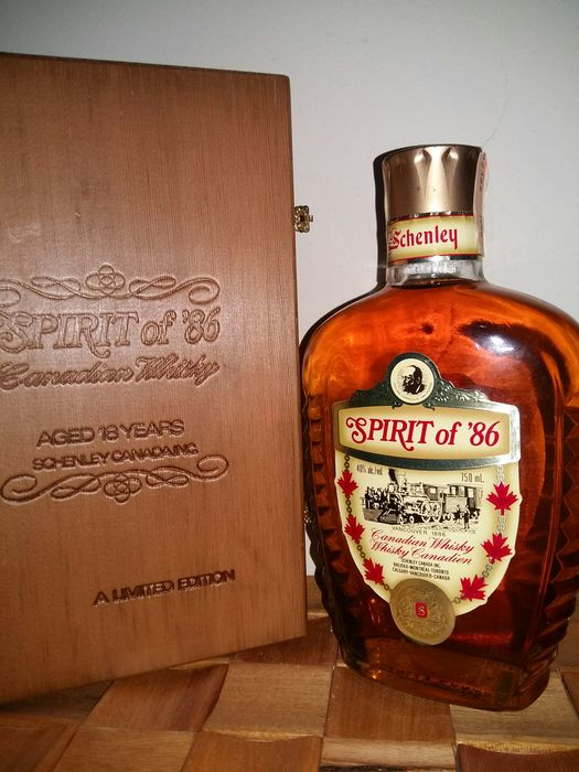 Schenley 1968 18 years old Spirit of '86 - Wooden Box - b. 1986 - 750ml