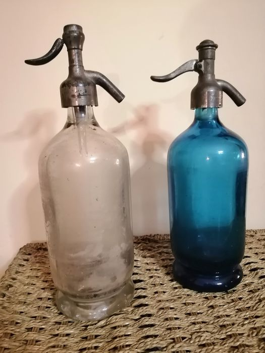 Pair of glass siphons in early 20th century (2) - Glass