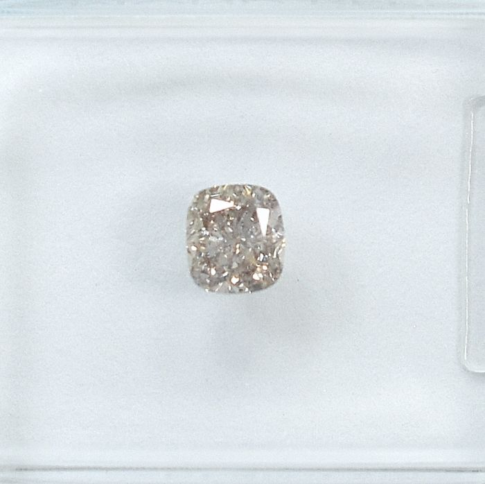 Diamant - 0.35 ct - Coussin - Natural Fancy Light Brownish Pink - SI1