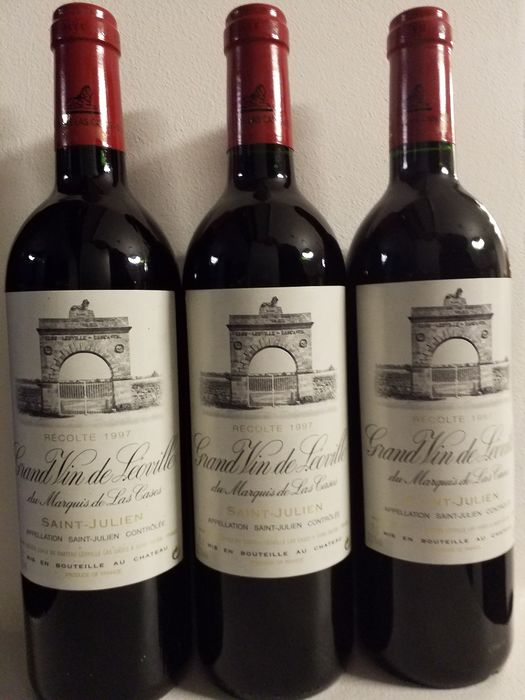 1997 Chateau Leoville las Cases - Saint-Julien 2éme Grand Cru Classé - 3 Bottles (0.75L)