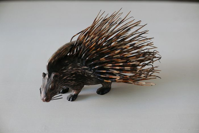 Viennese bronze porcupine - Bronze (cold painted) - Early 20th century