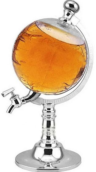 Wereldbol Whisky dispenser