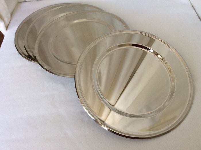 Silvered bottom plates (12) - Silverplate