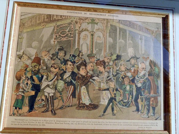 satirical representation - framed print from Le Rire - 1900