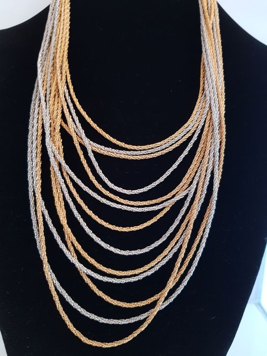 Christian Dior vintage exquisite  waterfall stylish necklace  - Germany 1972